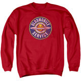 Crewneck Sweatshirt: Oldsmobile- Vintage Service Logo T-shirts