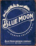Blue Moon - Skyline Logo Retro Tin Sign