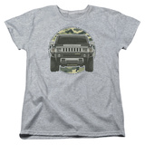 Womans: Hummer- Lead Or Follow Camo Patch T-Shirt