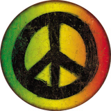 Rasta Peace Sign Tin Sign