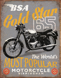 BSA - '65 Gold Star Tin Sign
