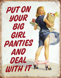 Big Girl Panties Tin Sign