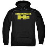 Hoodie: Hummer- H2 Block Logo Pullover Hoodie