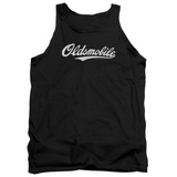 Tank Top: Oldsmobile- Distressed Script Logo Tank Top