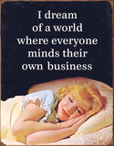Mind Their Business Tin Sign