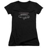 Juniors: Buick- 1952 Roadmaster Distressed V-Neck T-Shirt