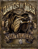 Dawgs of War Tin Sign
