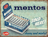 Mentos - Sold Here Tin Sign