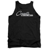 Tank Top: Chevrolet- Chrome Vette Stingray Logo Tank Top