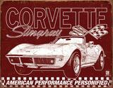 Corvette - 69 StingRay Cartel de chapa