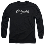 Long Sleeve: Oldsmobile- Distressed Script Logo Shirts