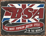 BSA - Most Popular Tin Sign