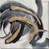 Motion in Black Hand Embellished Canvas
