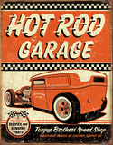 Hot Rod Garage - Rat Rod Tin Sign