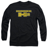 Long Sleeve: Hummer- H2 Block Logo Long Sleeves