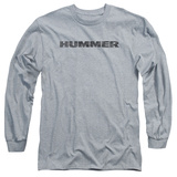 Long Sleeve: Hummer- Distressed Hummer Logo T-Shirt