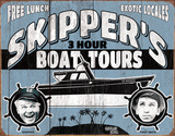 Gilligan's Island - Skipper Tours Tin Sign