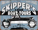 Gilligan's Island - Skipper Tours Cartel de chapa