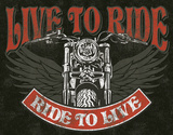 Live to Ride - Bike Tin Sign