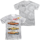 Oldsmobile- Delta 88 Golden Rockets (Front/Back) T-shirts