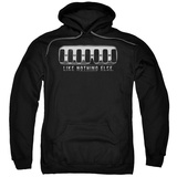 Hoodie: Hummer- Chrome Grill Pullover Hoodie