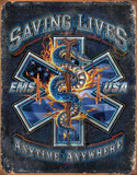 EMS - Saving Lives Tin Sign