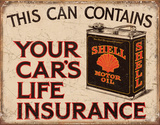 Shell - Life Insurance Tin Sign