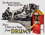 Shell - Motorcycle Oil Tin Sign