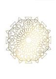 Gold Foil Mandala I Kunst af Chariklia Zarris