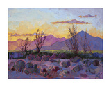 Violet Point Print by Erin Hanson
