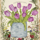 Vintage Tulip Can II Art by Leslie Mark
