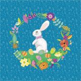 Bunny Wreath II Prints by Chariklia Zarris