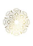 Gold Foil Mandala IV Poster by Chariklia Zarris