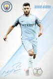Manchester City- Sergio Aguero 16/17 Kunstdruck