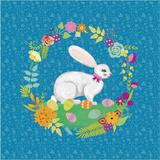 Bunny Wreath I Posters by Chariklia Zarris