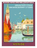 Venice (Venise), Italy - Venetian Grand Canal - Fast Train Daily Giclée-tryk af Geo Dorival