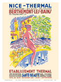 Nice - Thermal - Berthemont-les-Bains, France - Health Beauty Hot Springs Spa Posters by Emmanuel Bellini