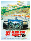 37th Grand Prix Monaco 1979 - Formula One Auto Racing Art by  Pacifica Island Art
