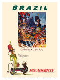 Brazil - Carnival in Rio - Pan American World Airways Prints by William Linzee Prescott