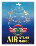 Air Atlas Maroc - Morocco Giclée-tryk af G. Debureau