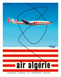 "Air Algérie - Lockheed L-1049 Super Constellation ""Connie"" Giclée-tryk af Guy Georget"