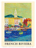 French Riviera - Port of Saint Tropez - French National Railway Company Posters by Roger Bezombes