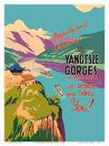 The Yangtsze (Yangtze) River Gorges Posters by  Pacifica Island Art