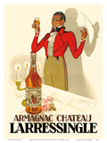 Armagnac Chateau Larressingle - French Brandy Prints by Henri Le Monnier