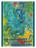 Die Zauberflöte (The Magic Flute)- Mozart- Metropolitan Opera Plakater af Marc Chagall