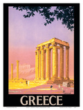 Greece - Ancient Temple of Zeus - Athens, Greece Prints by Pierre Commarmond