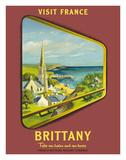 Brittany - Visit France - SNCF (French National Railway Company) Giclée-tryk af Jean Garcia