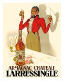 Henri Le Monnier - Armagnac Chateau Larressingle - French Brandy Digitálně vytištěná reprodukce