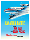 Far East & South Pacific - Canadian Pacific Airlines Prints by  Pacifica Island Art