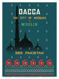 Dhaka (Dacca) - The City of Mosques & Muslin Posters by  Motahar